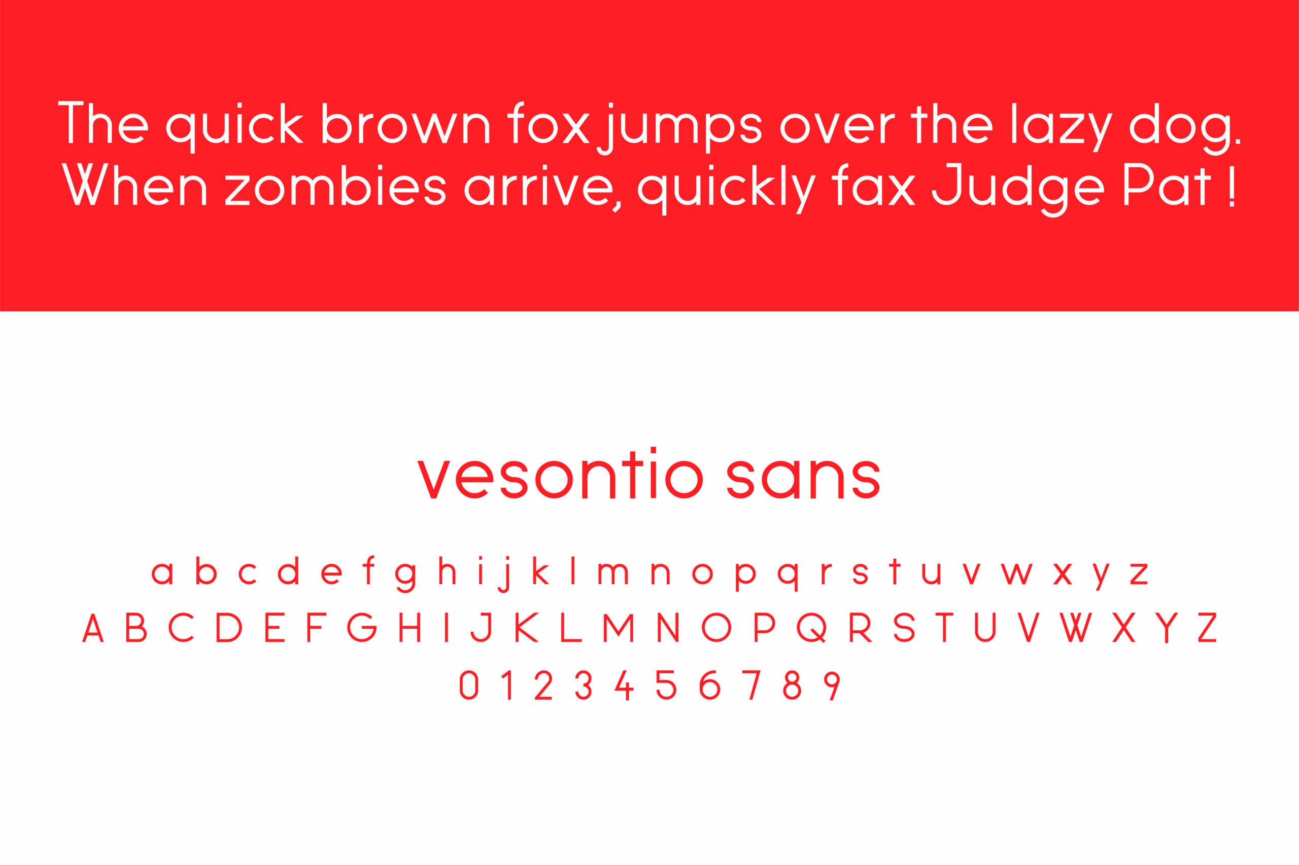 vesontio sans custom fonts