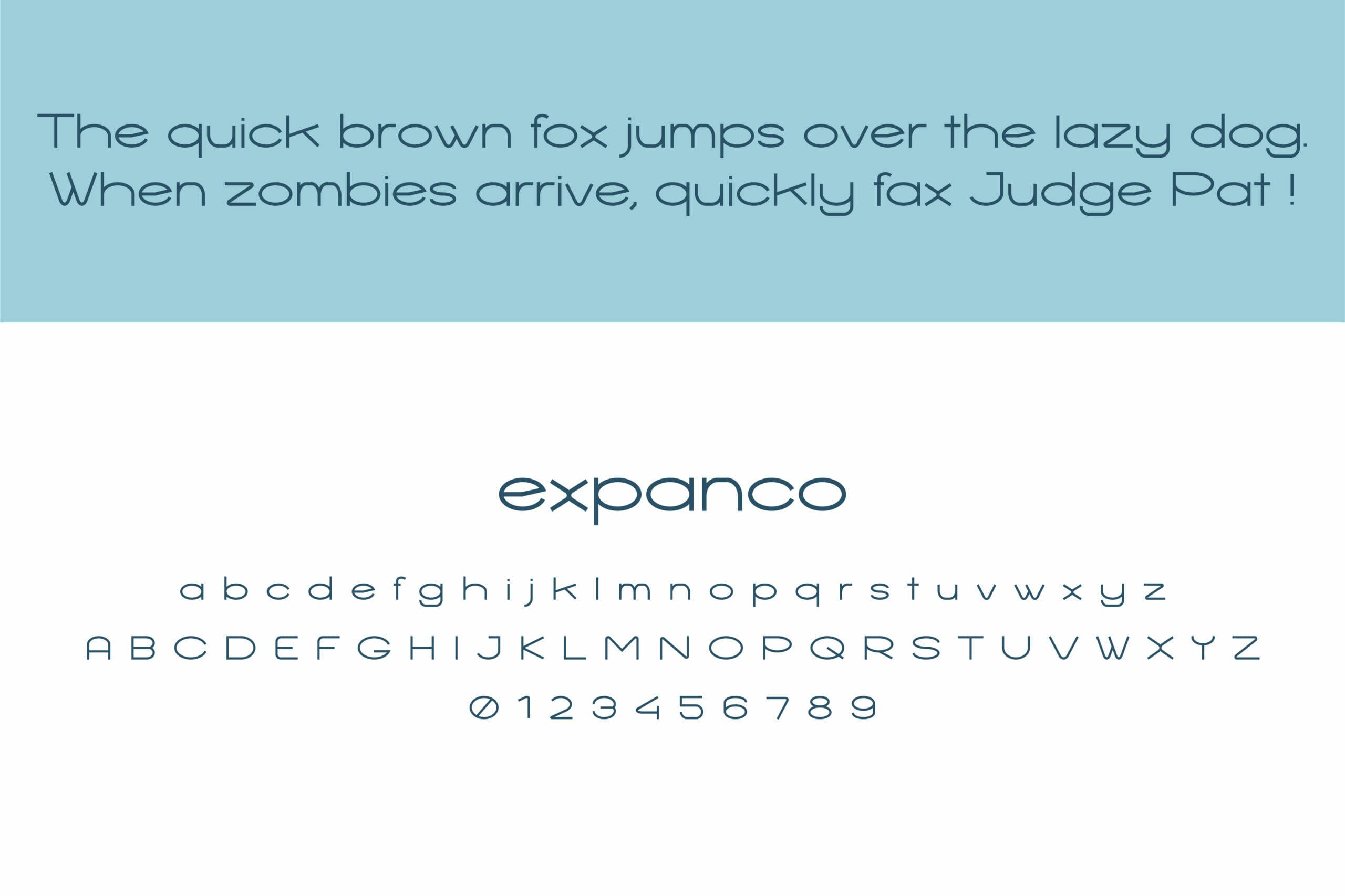 expanco custom fonts