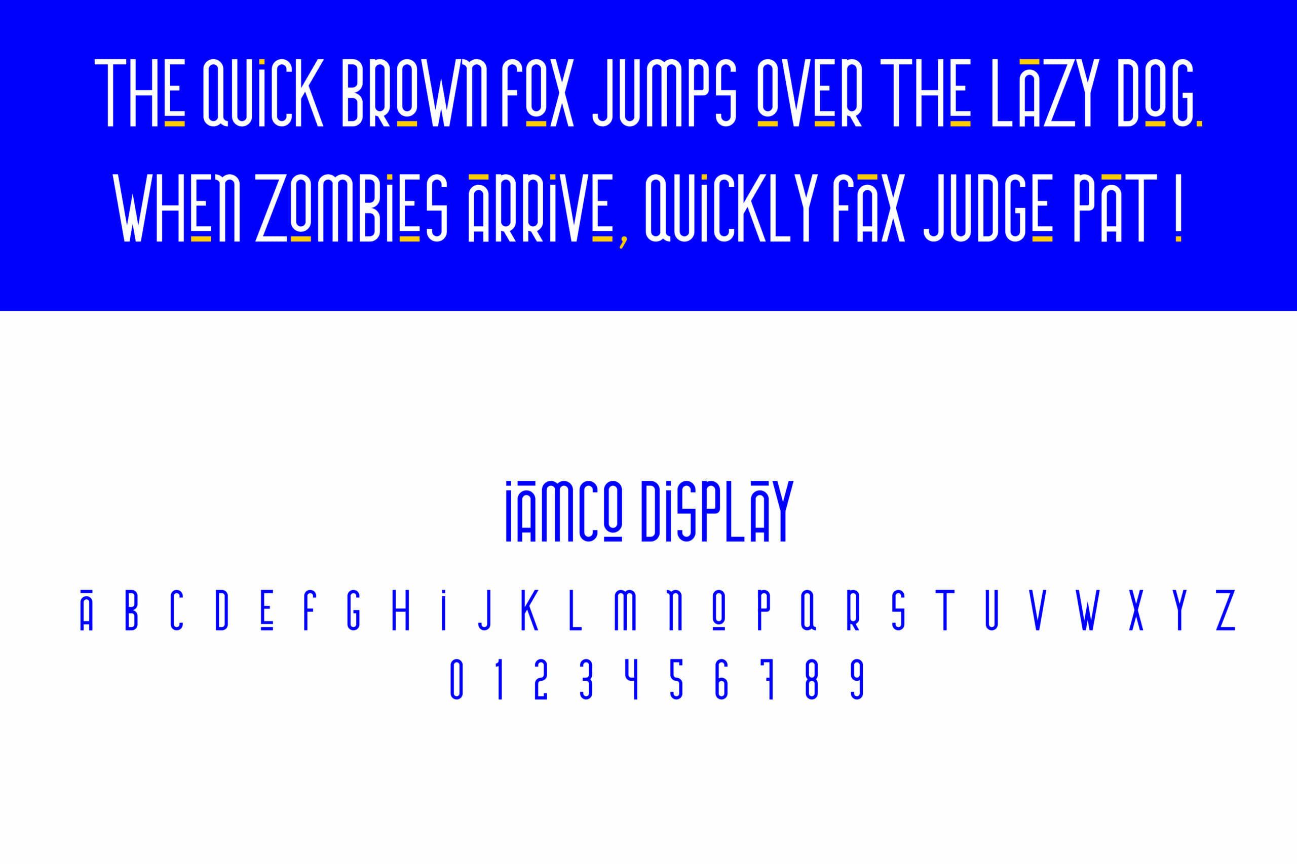 iamco display custom fonts